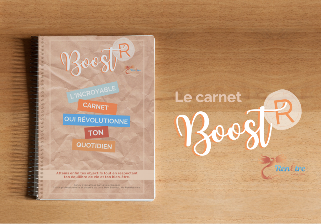 Le carnet Boost'R pour organiser son temps et retrouver un équilibre de vie